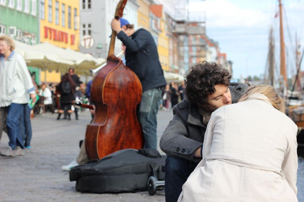 The art of love in Copenhagen, Denmark.