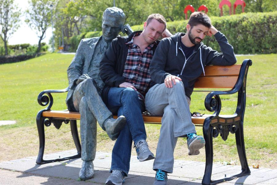 Thinkers in Reykjavik.