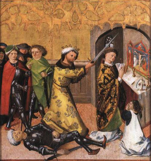 St. Stanislav being slayed by King Bole
