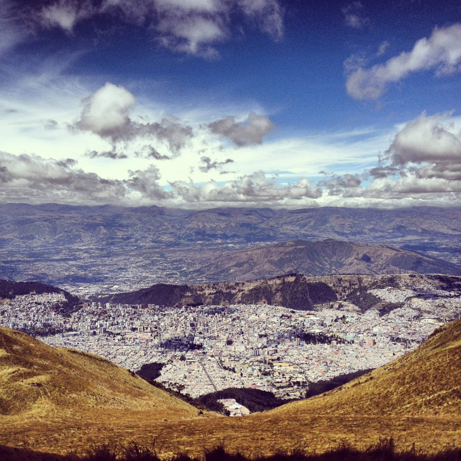 Quito from the clouds.